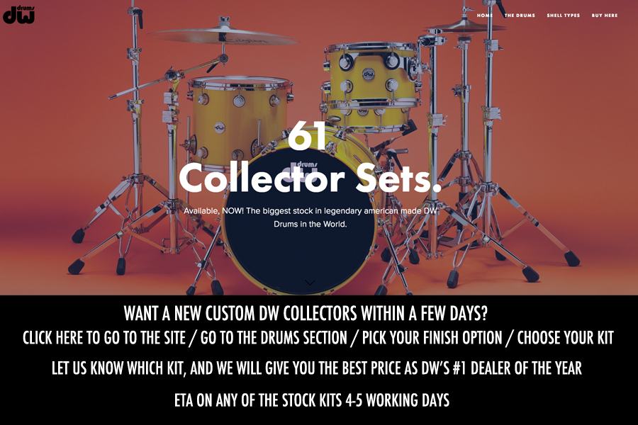 Choose from over 60 DW Collectors Kits In Stock!