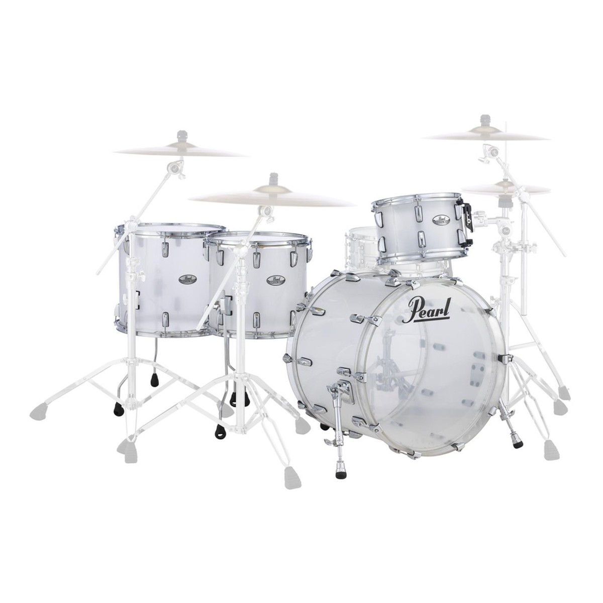 acoustic drum kits pearl crystal beat 22 39 39 crossover drum kit ltd frosted acrylic. Black Bedroom Furniture Sets. Home Design Ideas