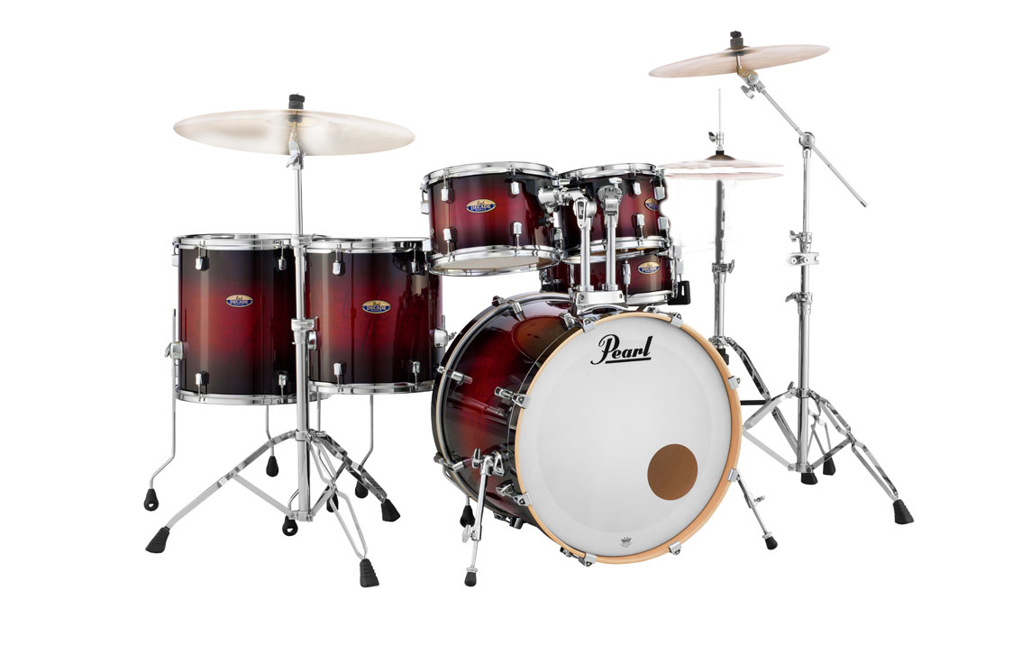 acoustic drum kits pearl decade maple 22 39 39 6 piece drum kit w hardware pack gloss deep red. Black Bedroom Furniture Sets. Home Design Ideas