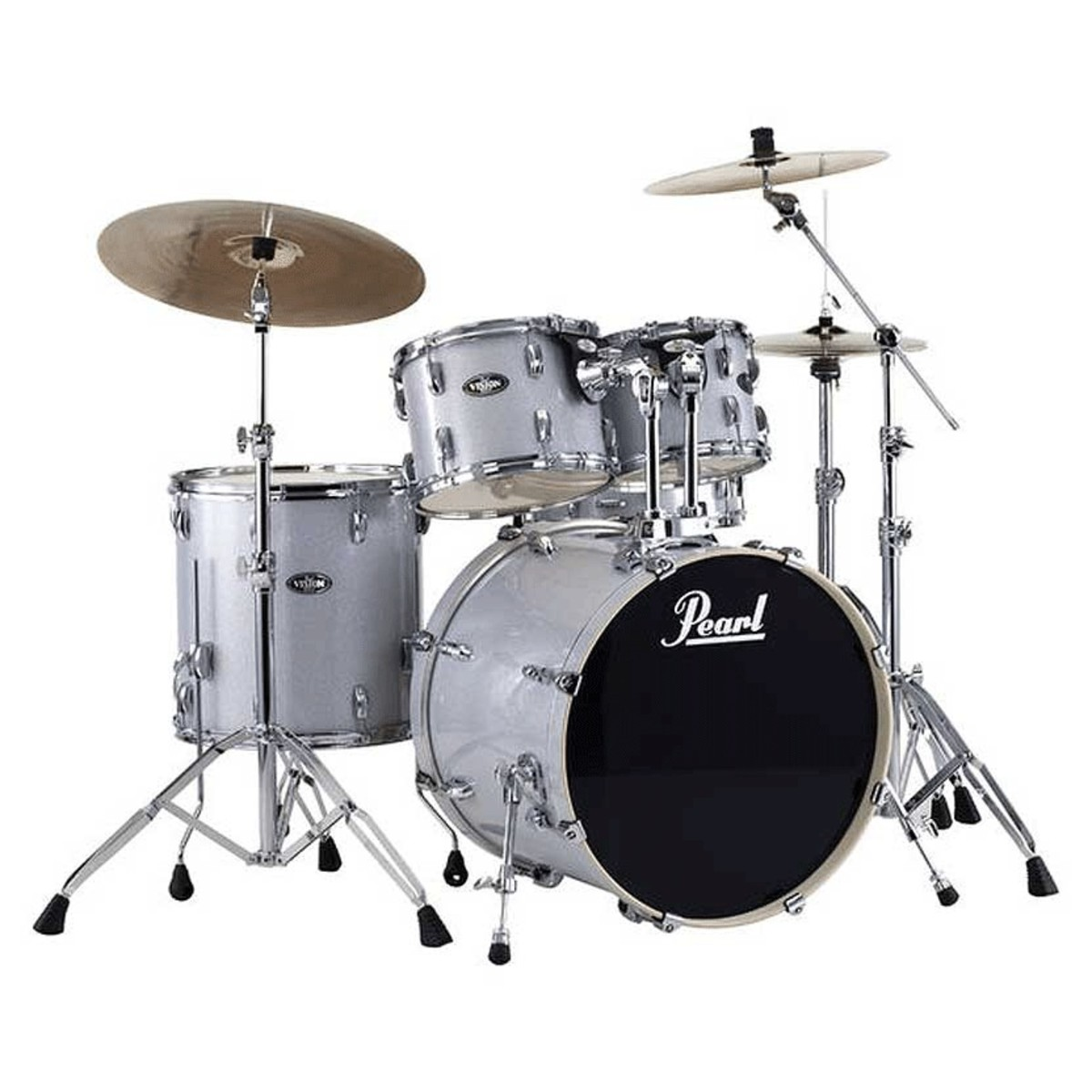acoustic drum kits pearl export exx 20 39 39 fusion drum kit w sabian sbr cymbal set arctic sparkle. Black Bedroom Furniture Sets. Home Design Ideas