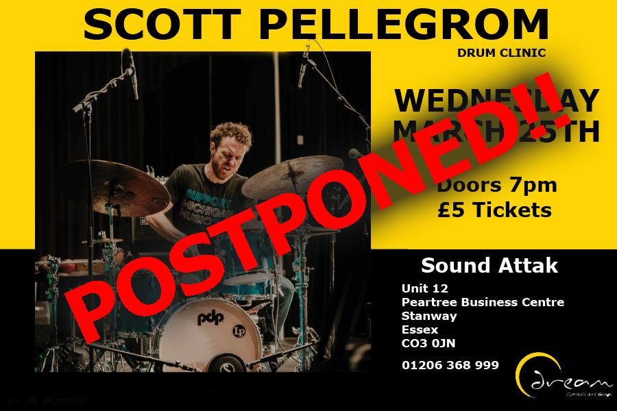 DRUM CLINIC - SCOTT PELLEGROM 25TH MARCH * POSTPONED PENDING NEW DATE **