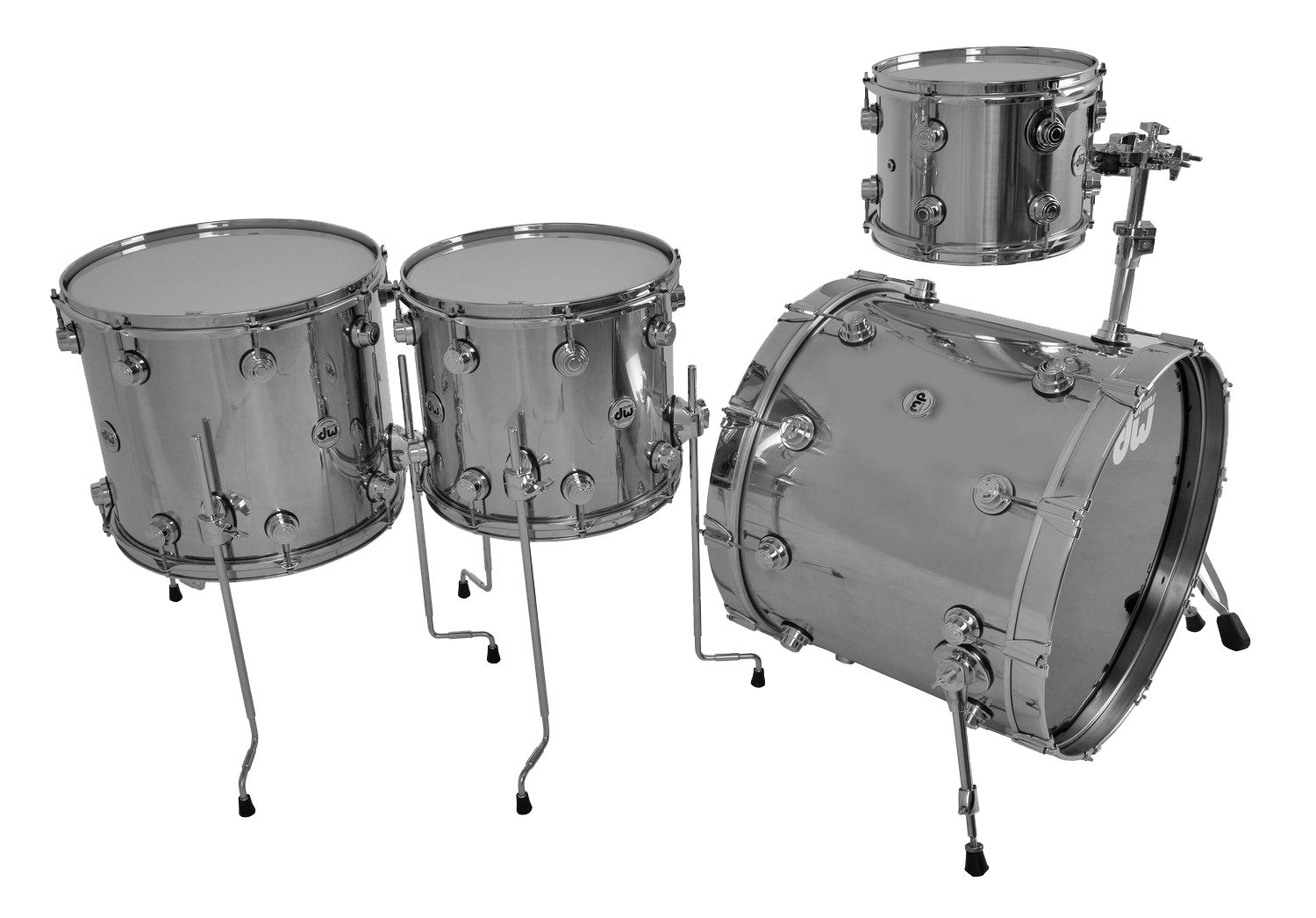 Acoustic Drum Kits Dw Collectors Stainless Steel Shell