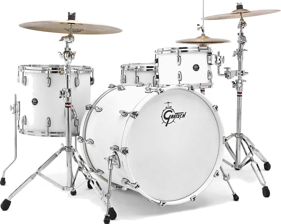 acoustic drum kits gretsch renown rn1 maple 3 piece shell pack 22 39 39 satin white. Black Bedroom Furniture Sets. Home Design Ideas
