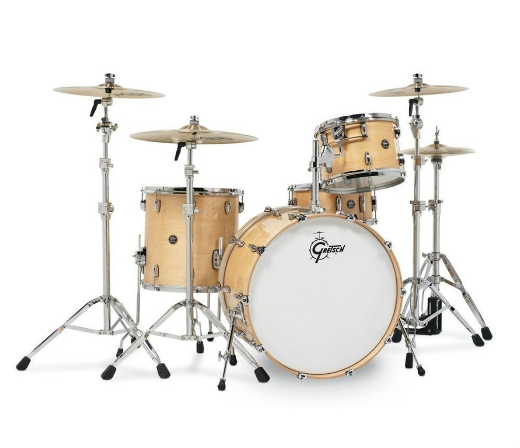 acoustic drum kits gretsch renown maple 22 39 39 3 piece shell pack gloss natural. Black Bedroom Furniture Sets. Home Design Ideas