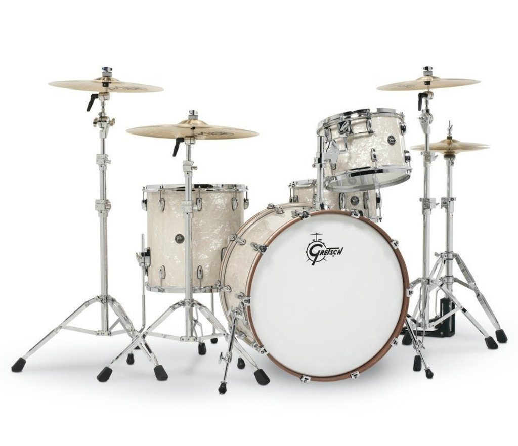 acoustic drum kits gretsch renown maple 22 39 39 3 piece shell pack vintage pearl. Black Bedroom Furniture Sets. Home Design Ideas