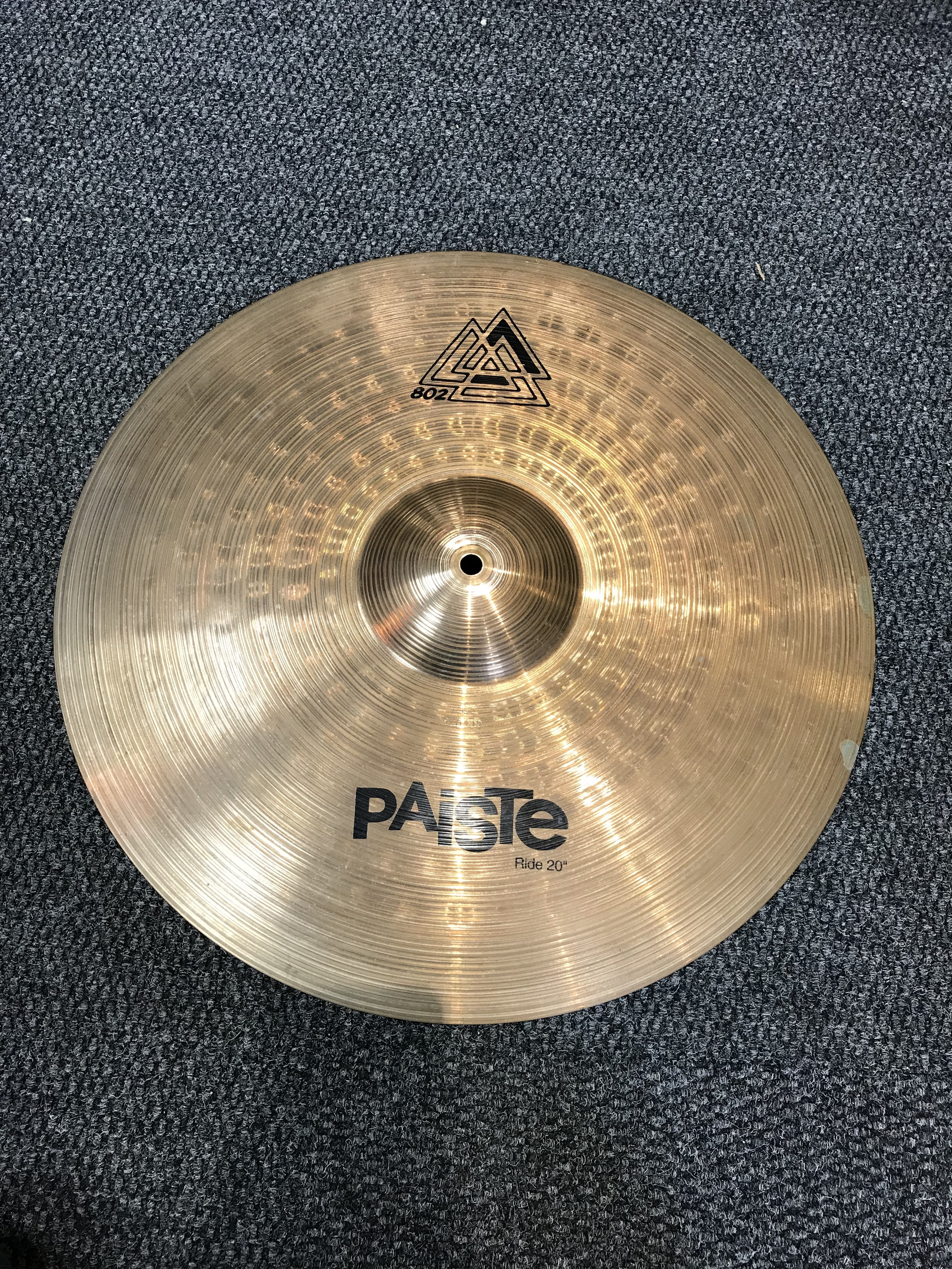 Cymbals    Pre-Owned  Paiste 802 20   Ride f1f8304b700b