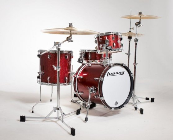 acoustic drum kits ludwig breakbeats questlove 16 39 39 4 piece shell pack red sparkle. Black Bedroom Furniture Sets. Home Design Ideas