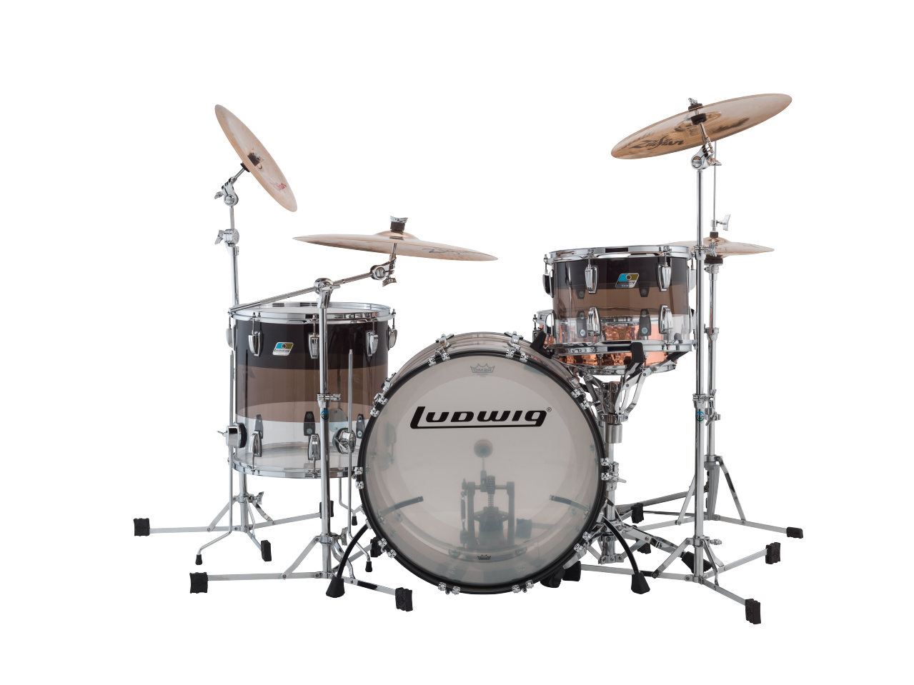 acoustic drum kits ludwig vistalite fab 22 in stock now. Black Bedroom Furniture Sets. Home Design Ideas