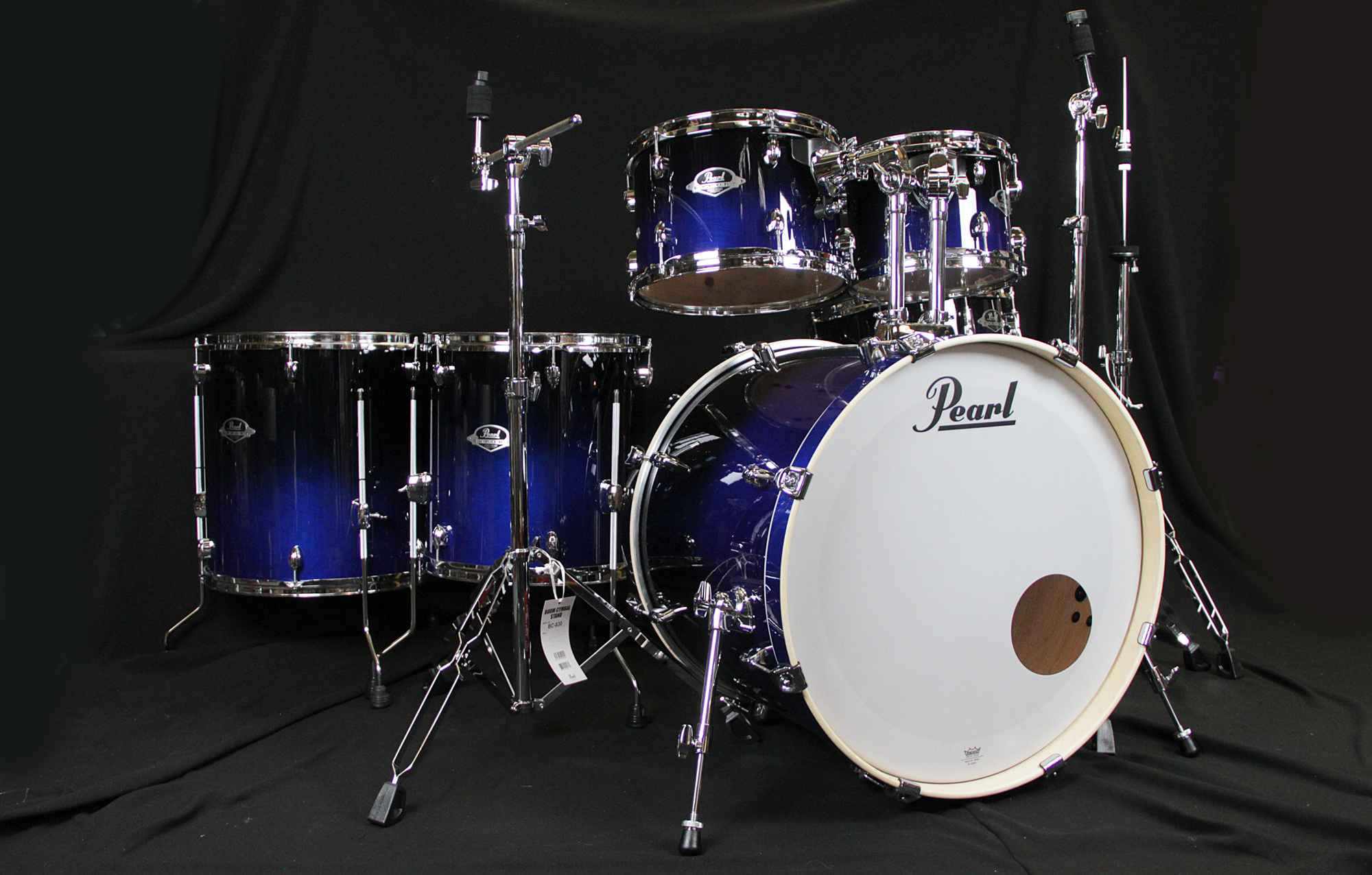 acoustic drum kits pearl exl export lacquer series 6 piece drum kit sea blue fade. Black Bedroom Furniture Sets. Home Design Ideas