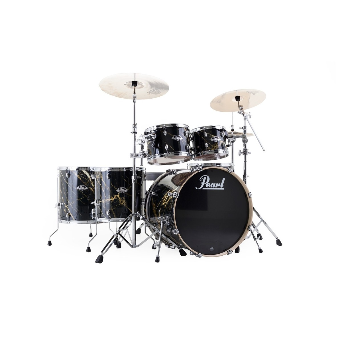 acoustic drum kits pearl exa limited edition black and gold marble 22 39 39 drum kit. Black Bedroom Furniture Sets. Home Design Ideas
