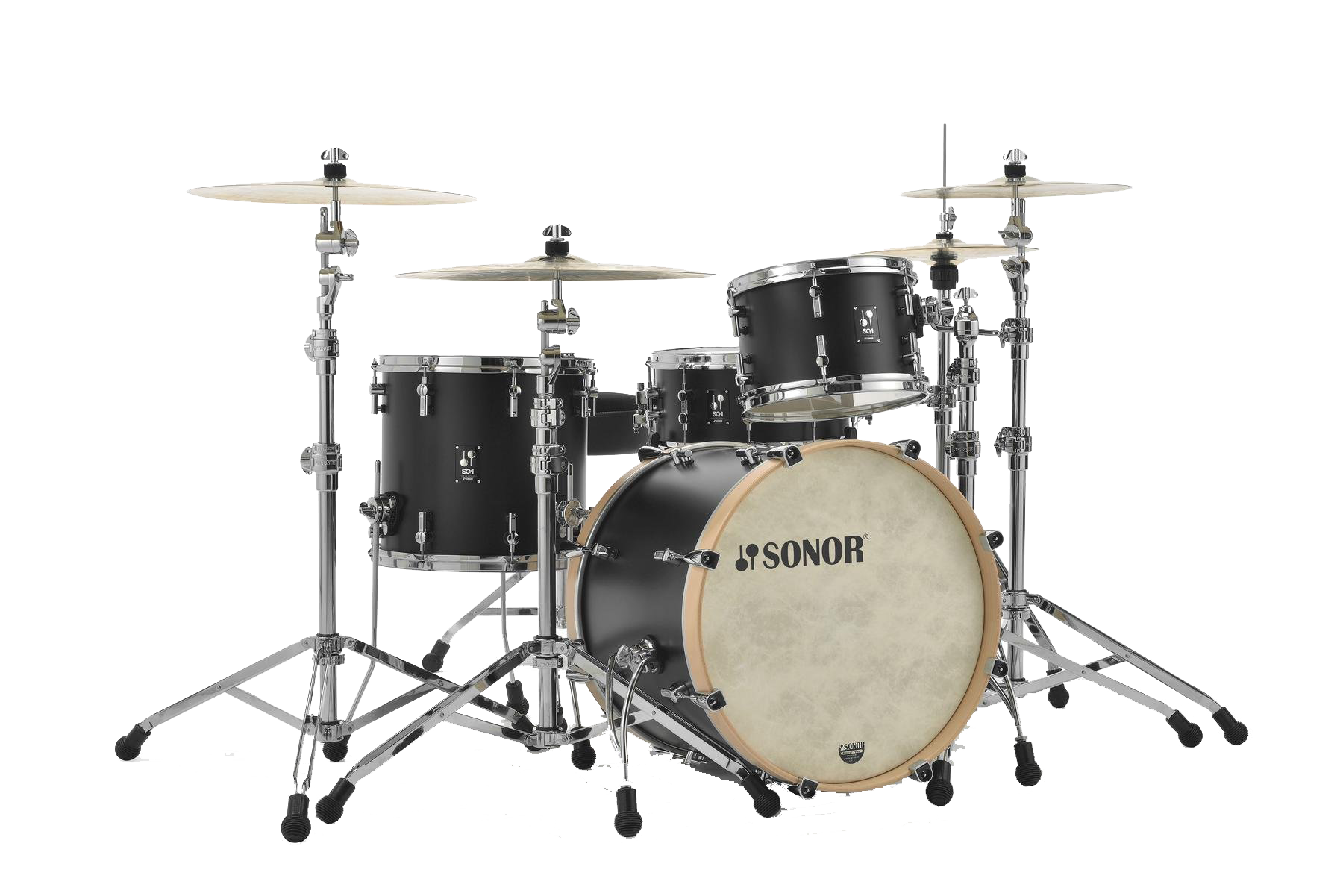 acoustic drum kits sonor sq1 22 39 39 3 piece shell pack gt black. Black Bedroom Furniture Sets. Home Design Ideas