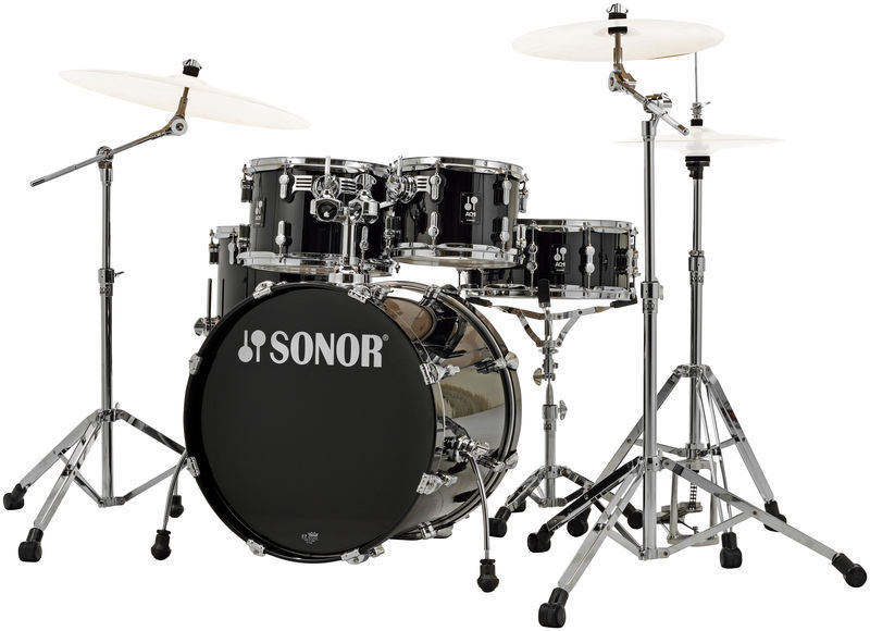 acoustic drum kits sonor aq1 stage set 22 39 39 5 piece drum kit w hw pack piano black. Black Bedroom Furniture Sets. Home Design Ideas