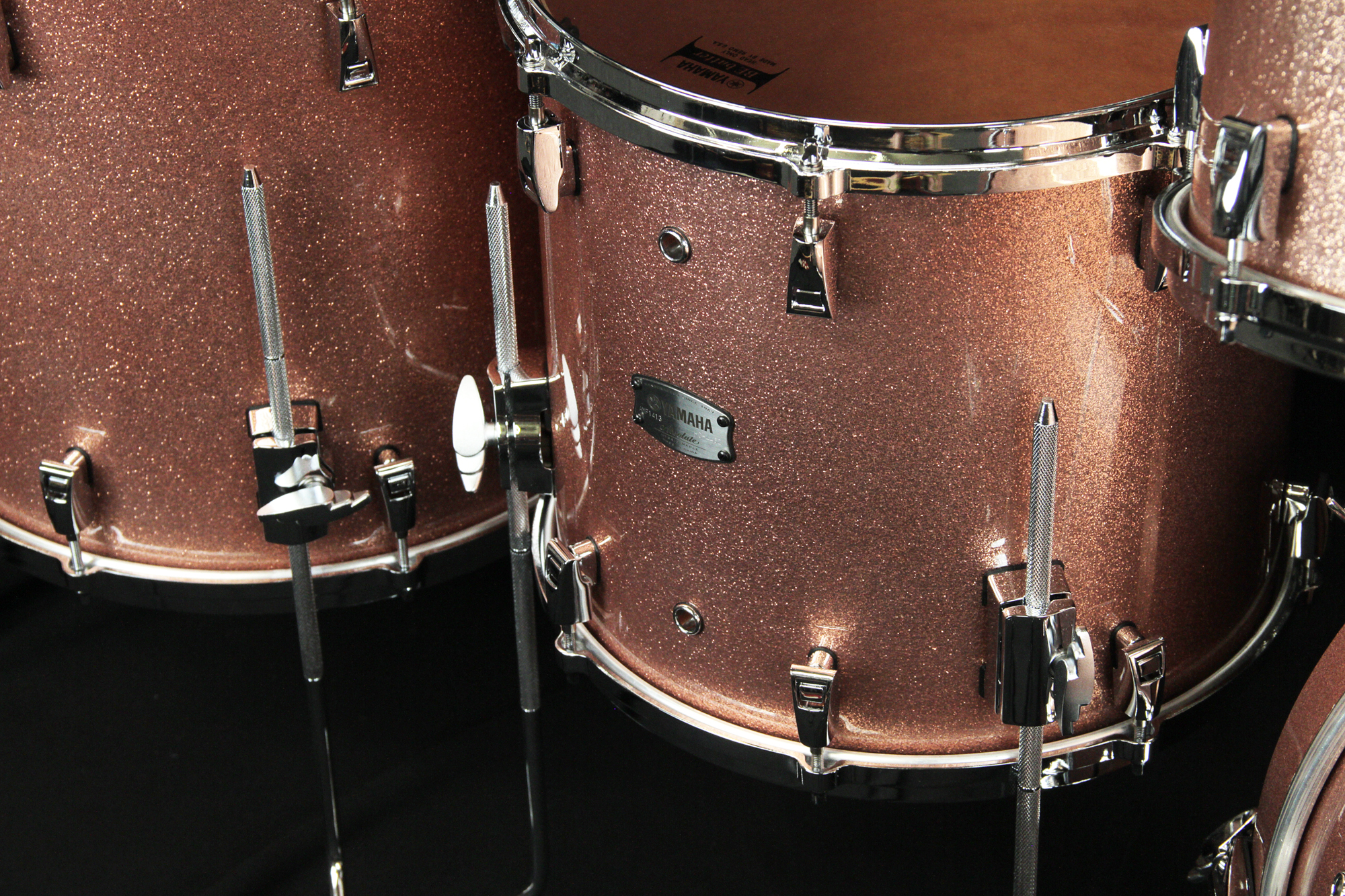 Yamaha Hybrid Maple Absolute 14x13'' Floor Tom - Pink Champagne Sparkle