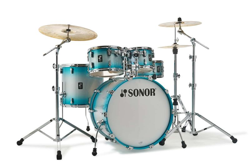 acoustic drum kits sonor aq2 stage 22 39 39 5 piece shell pack aqua burst. Black Bedroom Furniture Sets. Home Design Ideas