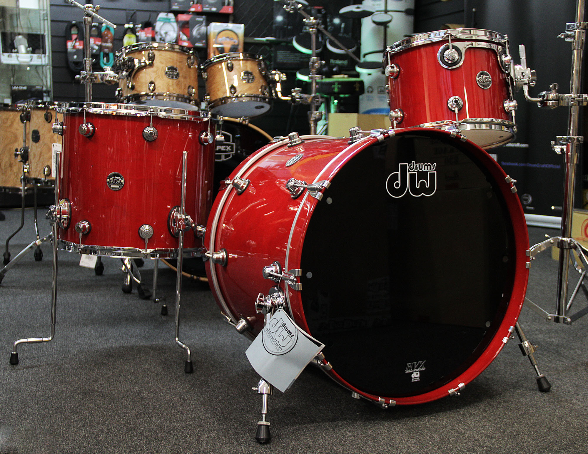 drums dw performance series candy apple lacquer. Black Bedroom Furniture Sets. Home Design Ideas