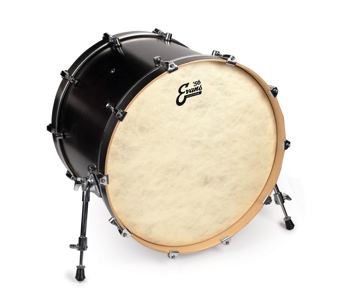 reso bass drum heads evans 56 eq4 calftone 18 bass drum head. Black Bedroom Furniture Sets. Home Design Ideas