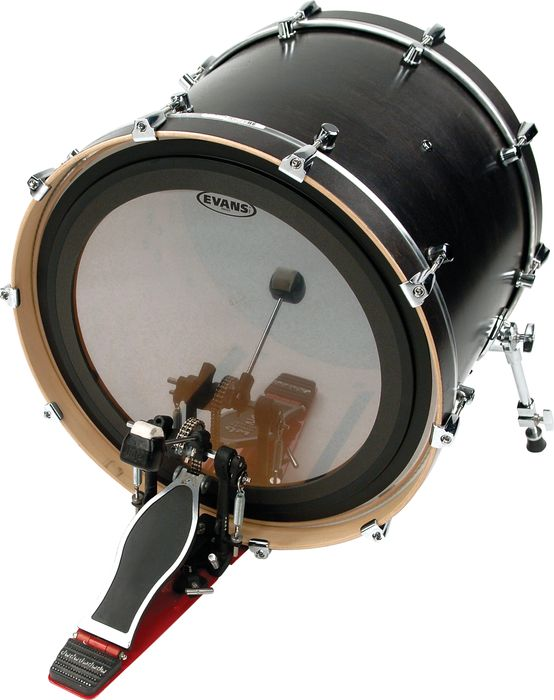 bass drum heads evans 22 gmad clear bass drum head. Black Bedroom Furniture Sets. Home Design Ideas