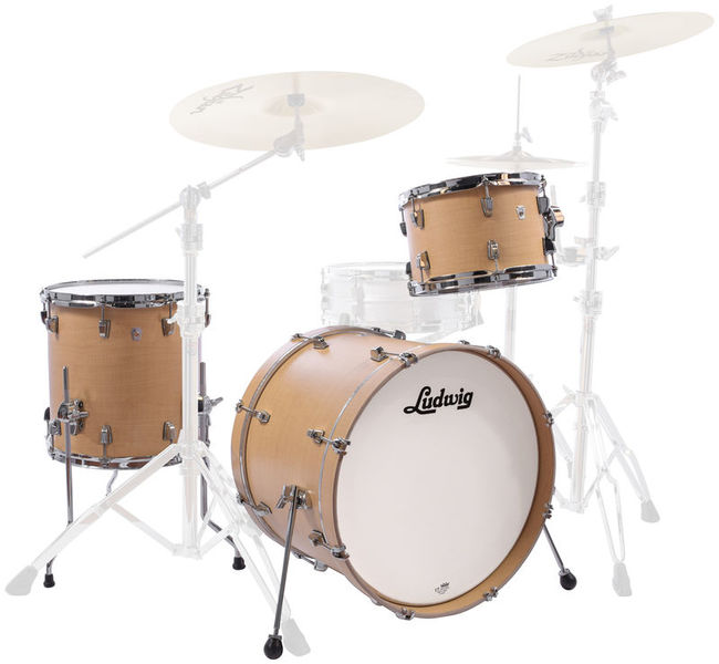 acoustic drum kits ludwig neusonic 20 39 39 3 piece shell pack sugar maple. Black Bedroom Furniture Sets. Home Design Ideas