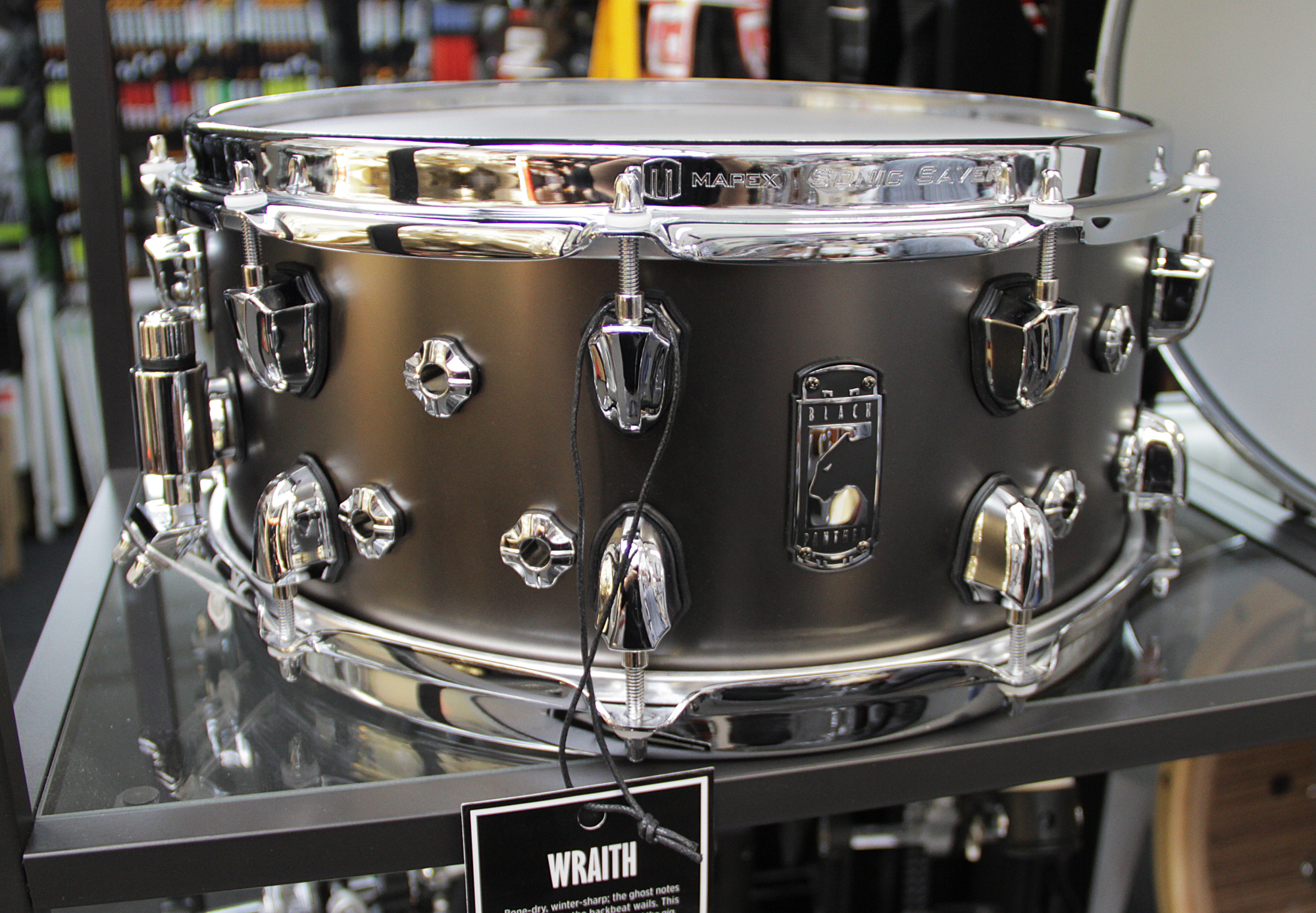690dd2ad6747 Drums   Mapex Black Panther Wraith Brass Snare Drum