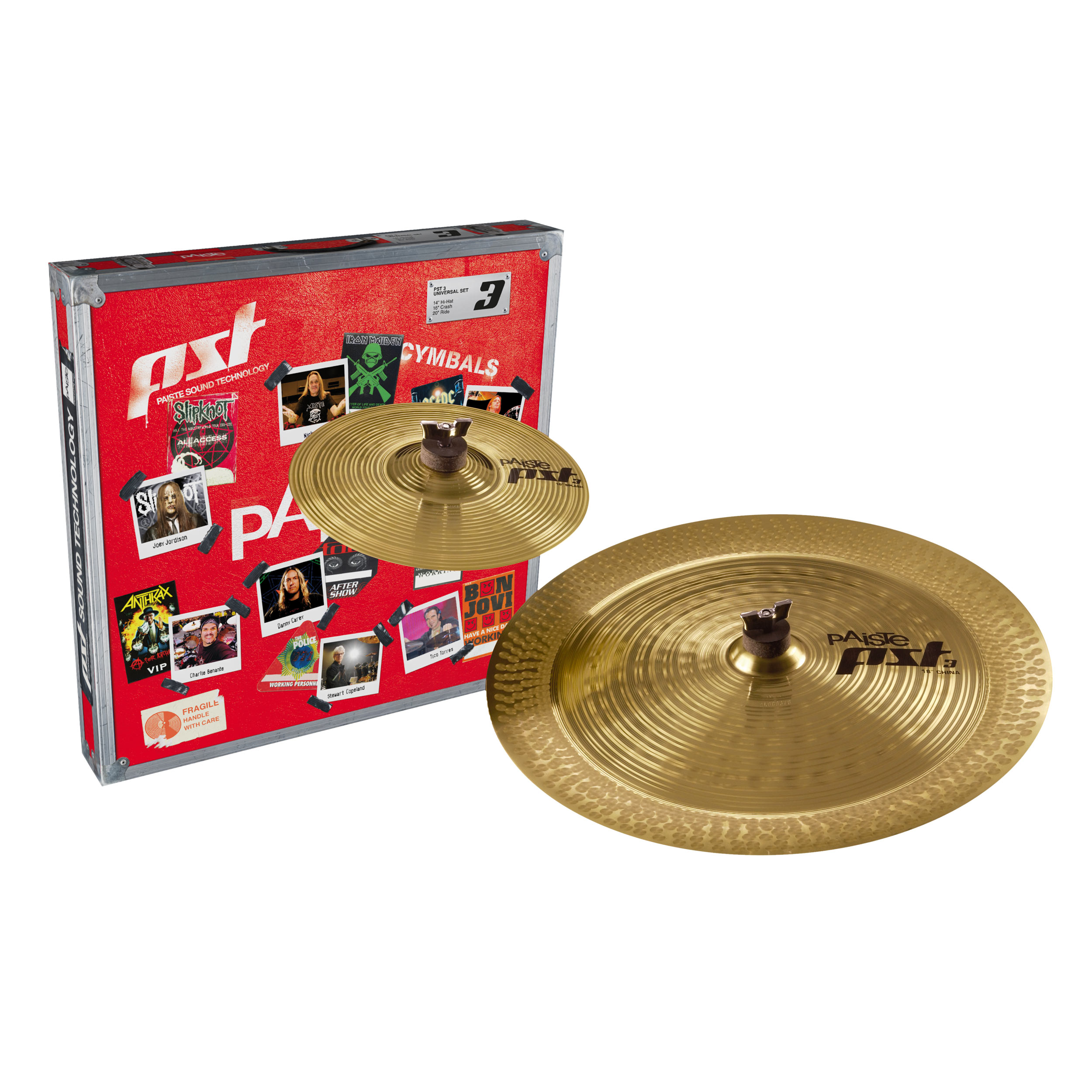 cymbals paiste pst3 2 pce effects pack 10 splash 18 china. Black Bedroom Furniture Sets. Home Design Ideas