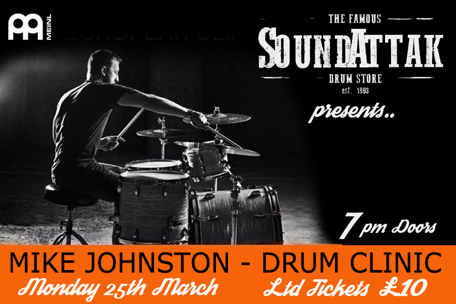 Mike Johnston Drum Clinic - 25th March 7pm
